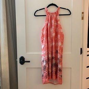 Silk coral dress